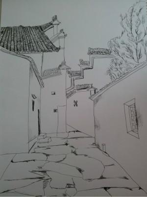安徽旅游攻略 安徽宏村,西递,南屏,屏山写生之旅~   安徽的风景还是很