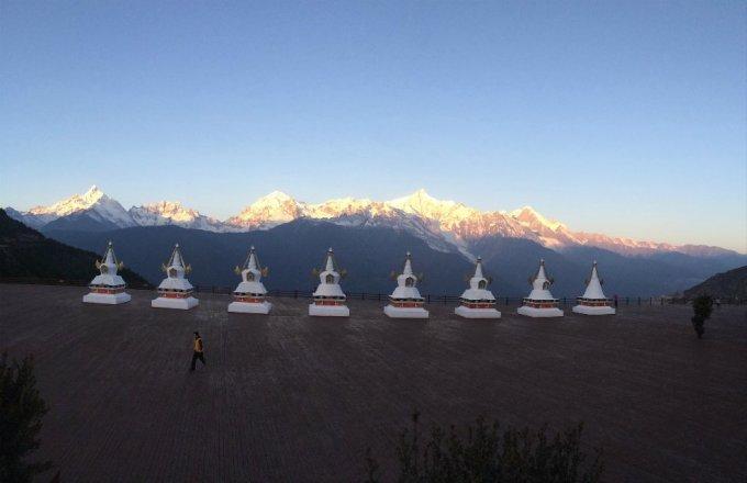 藏族情侣头像风景图片