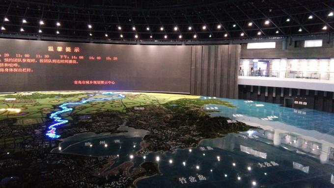 这是展馆正中的超大三维地图,还有巨大的led屏幕介绍,可惜我等不及