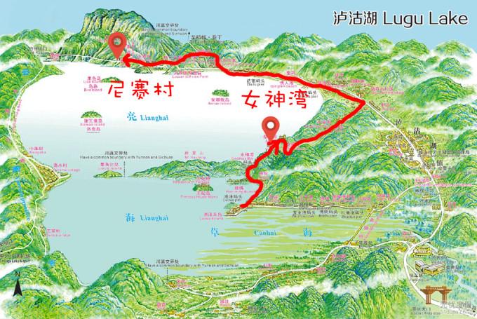以下路线图是对景区地图的修改,帮助不熟悉地形的小伙伴快速了解~ ↓