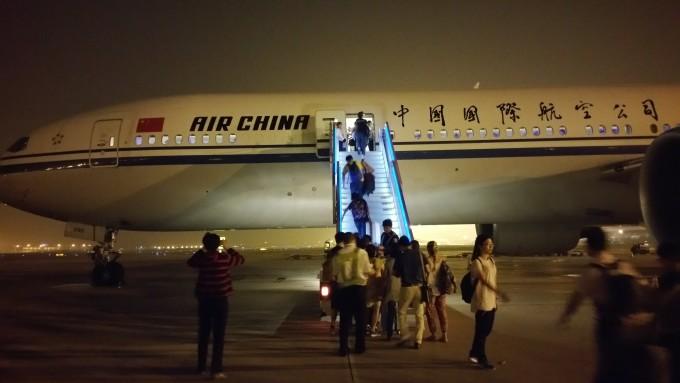 国航北京——洛杉矶,全程空乘服务还算热情周到