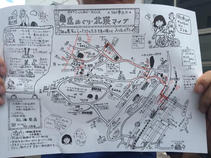 小樽步行手绘地图